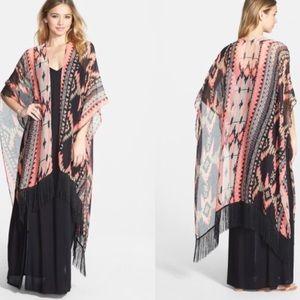 NWT Geometric Print Kimono / Scarf